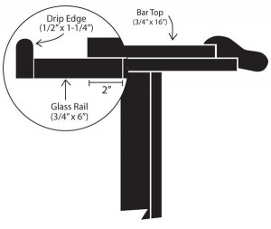 Diagram of Bar with Drip Edge
