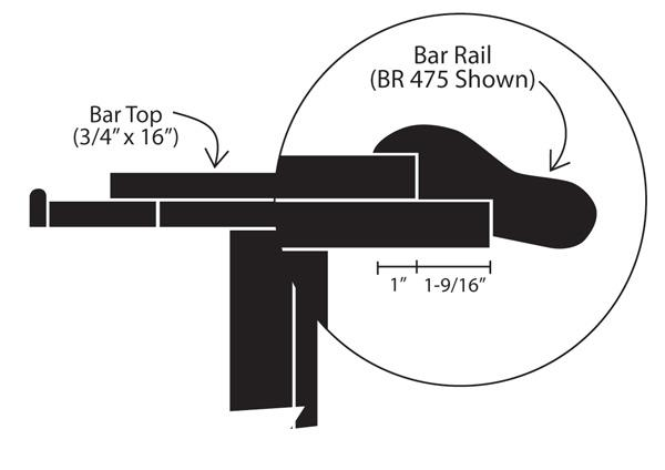 Standard Bar Dimensions Specifications DIY Commerical - Commercial bar dimensions standard