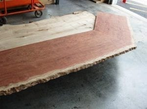 Bubinga Slab Bar Top