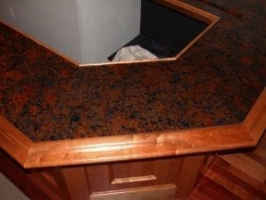 Finished Bar with Granite Bar Top