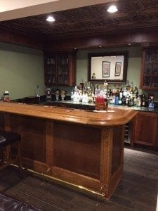 DIY Home Bar Rail