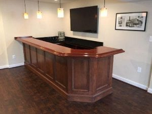American Cherry & Lacewood Home Bar