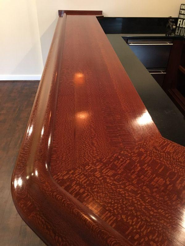 Latest Finished Bar Photo Gallery Bar Rails Uamp Parts Hardwoods With Bar  Top Material.