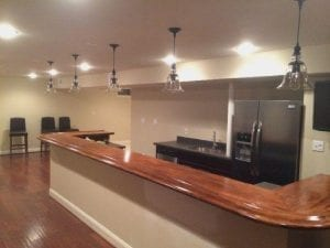 Finished Bar Photo Gallery - Bar Rails & Parts - Hardwoods Incorporated