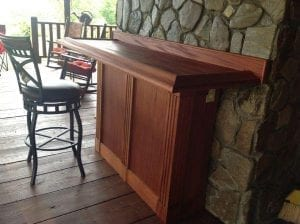 Solid Mahogany Pool & Patio Bar