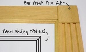Panel Molding 158 with Bar Front Trim Kit