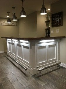 Jason K's Completed Basement Bar