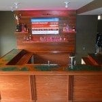 Completed Mahogany Bar