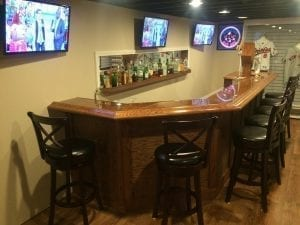 Completed Bar with our BR475 Chicago Bar Rail Molding.