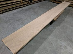 Curly Red Oak Bar Top Slab