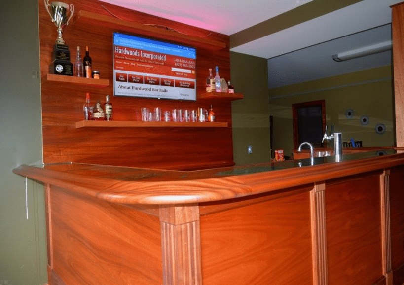 Build a home bar with our custom parts hardwoods for How much can you save building your own house