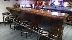 Custom Home Bar with our BR475-S Chicago bar rail molding.