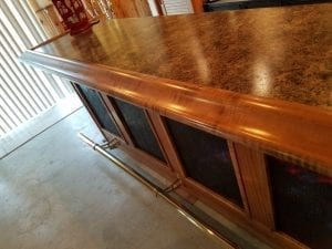 Curly Maple Chicago Style Bar Rail Home Bar