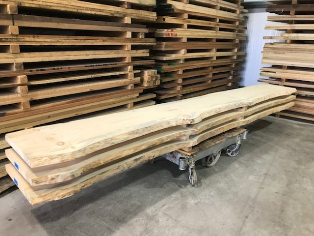 Because Seasoned Wood Slabs Usually Have Some Of The Bark Still Attached We  Take The Time To Carefully Remove All The Loose Bark Prior To Sanding The  ...