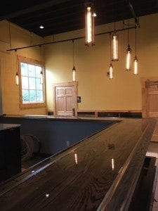 Commercial Bar Top with BR475 Bar rail molding.