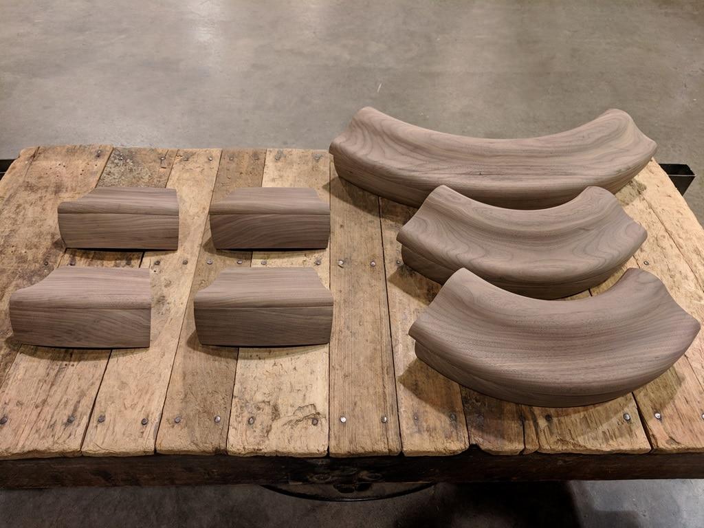 walnut bar rail molding 5