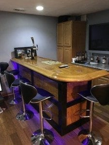 Man Cave Theater Room Bar