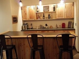 Do it yourself Home Bar with BR450 Bar Rail Molding.