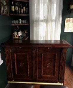 Small Oak Home Bar.