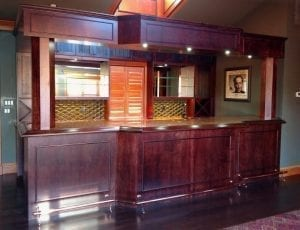 Beautiful custom DIY home bar