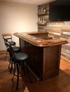 Solid Maple Home Bar Top.