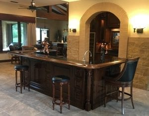 Beautifully custom crafted home bar with attention to details!