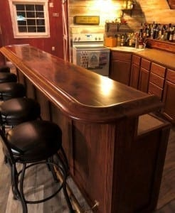 American Walnut Man Cave Bar.