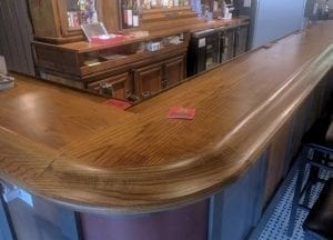 Oak Home Bar Top