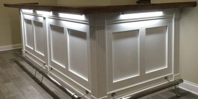 White Bar Front Trim Planks