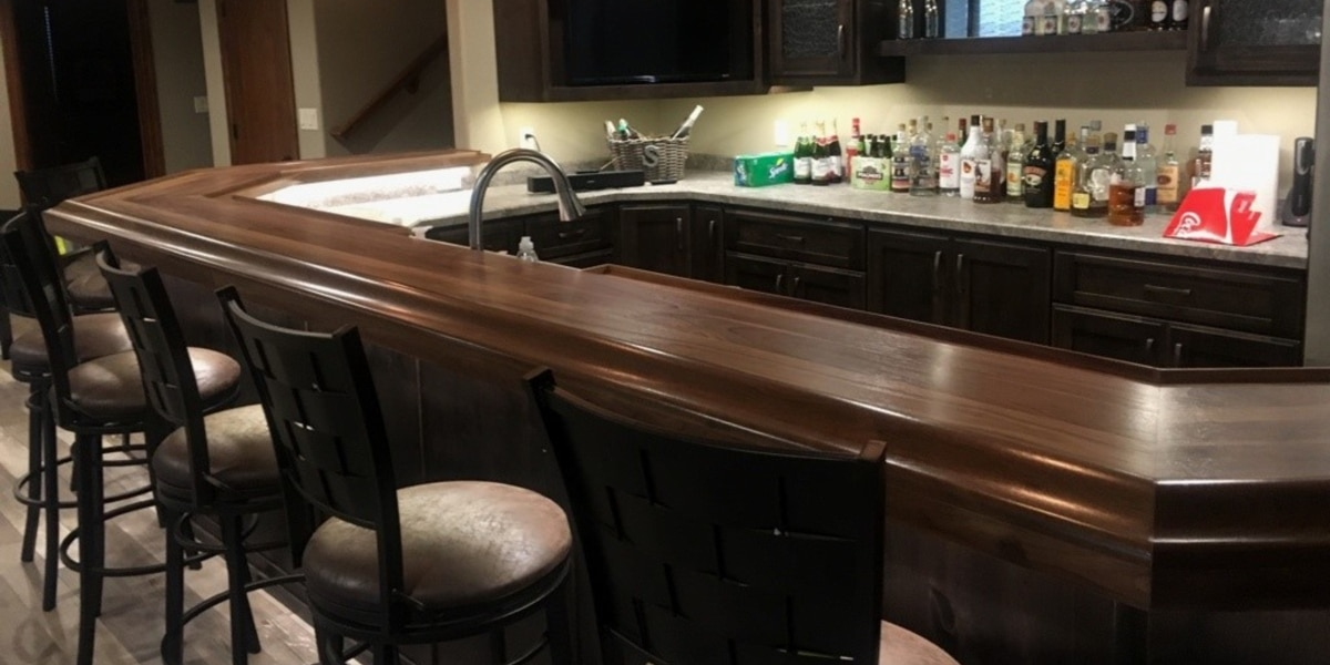 Chicago Bar Rail Molding Home Bar